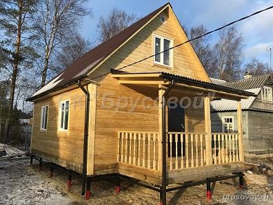 Дом из бруса 8 на 9
